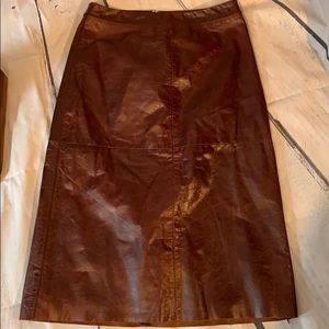 Gap Knee Length Leather Skirt
